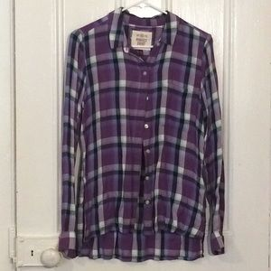 "SO Brand ""Perfect Shirt"" Women's Plaid Button Down"